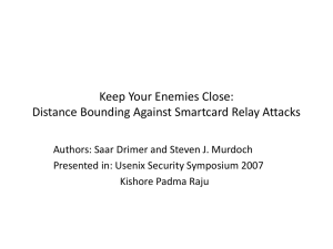 Keep Your Enemies Close: Distance Bounding Against Smartcard