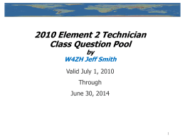 Technician Question Pool - 2006