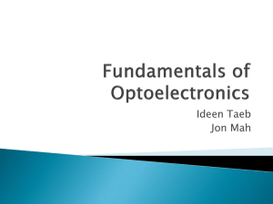 Fundamentals of Optoelectronics