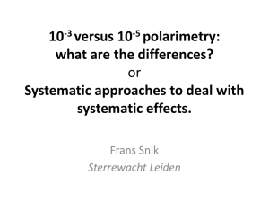 A systematic approach to systematic effects in polarimetry