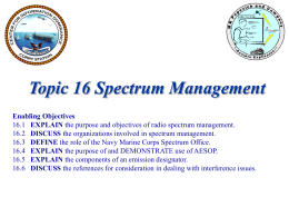 Topic 16 Spectrum Management inst ppt 14Jul08