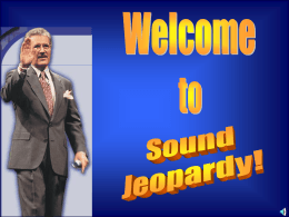 Sound JEOPARDY
