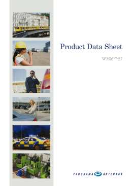 Product Data Sheet - Panorama Antennas