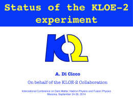 Status of the KLOE