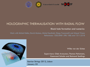 Holographic thermalisation with radial flow
