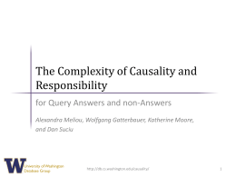 Why So? and Why No? Causality in Databases