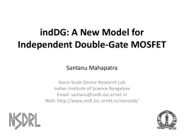 indDG: A New Model for Double-Gate MOSFET - MOS-AK