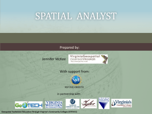 Spatial Analyst - Virginia Geospatial Extension Program