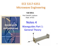 Notes 4 - Waveguides part 1 general theory
