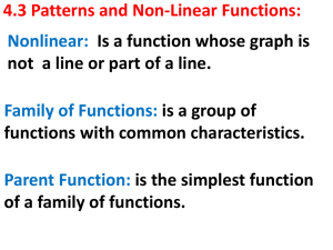 4_3 Patterns and NonLinear Functions