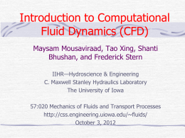 Computational Fluid Dynamics: An Introduction