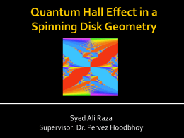 Quantum Hall Effect in a Spinning Disk Geometry