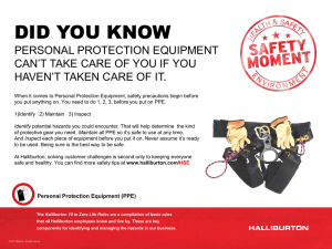 Safety Moment #23 - Personal Protection Equipment