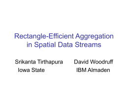 Rectangle-Efficient Aggregation in Spatial Data Streams