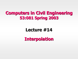 Lecture-14-Interpolation