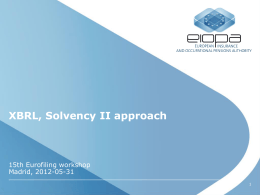 Insurance and Solvency II approach in XBRL