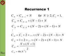 Recurrence 1