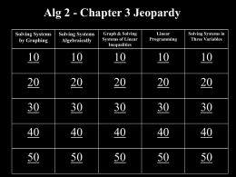 Chapter 3 Jeopardy