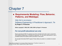 Requirements Modelling: Flow, Behaviour, Patterns and WebApps