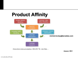 Product Affinity