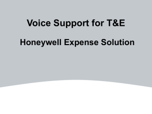 Voice Support - Expense