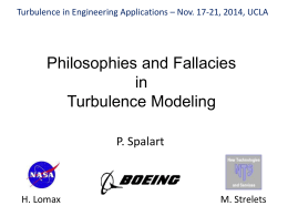 Local Formulations for Turbulence Models