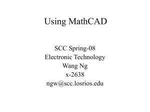 MathCAD is a versatile teaching tool