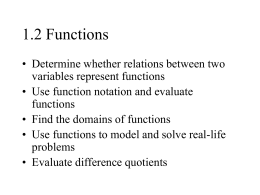 1.2 Functions