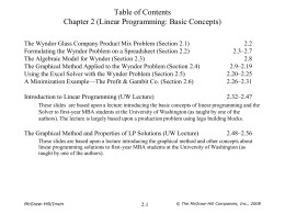 Linear Programming: Basic Concepts