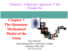 Chapter 7 The Quantum Mechanical Model of the Atom