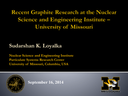 Recent Graphite Research at the Nuclear Science and Engineering
