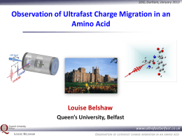 Observation of ultrafast charge migration in an amino acid www