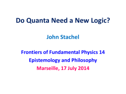 slides  - Frontiers of Fundamental Physics (FFP14)