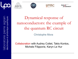 the example of the quantum RC circuit