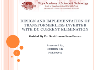 design and implementation of transformerless