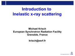 Introduction to X-ray inelastic scattering