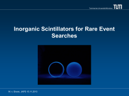 Rare Event Searches with Inorganic Scintillators