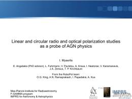Linear and circular radio and optical polarization