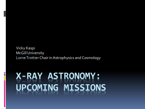 X-ray AstROnomy - McGill University Astrophysics and Cosmology
