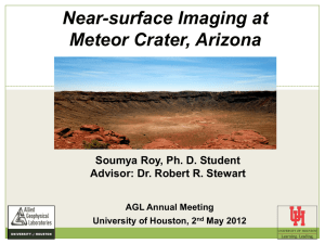 Near-surface Imaging at Meteor Crater, Arizona