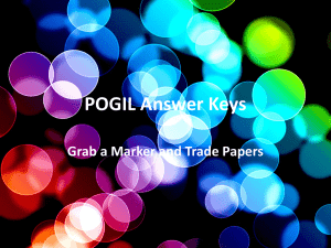 POGIL Answer Keys Grab a Marker and Trade Papers