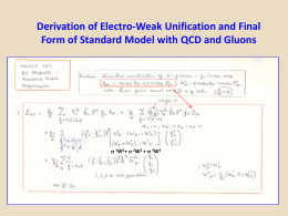 Electro-Weak.Unification.and.SM.Final.Form.with.QCD.and.Gluons