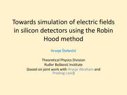 Simulation of electric fields in silicon detectors