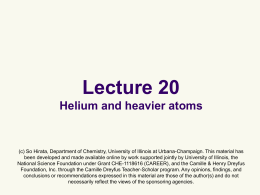 CHM 4412 Chapter 13 - School of Chemical Sciences