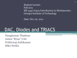 DAC, Diodes and Triacs - Georgia Institute of Technology