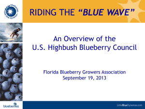 RIDE THE BLUE WAVE - Florida Blueberry Growers Association