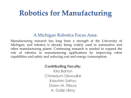 Goal - Robotics - University of Michigan