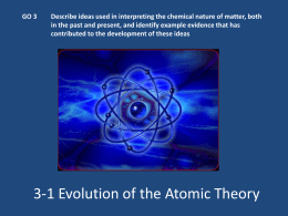 GO 3.1 Evolution of Atomic Theory PPT