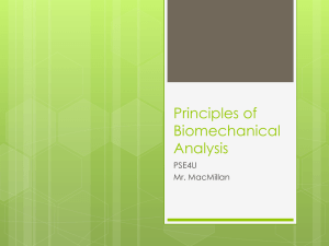 Principles of Biomechanical Analysis