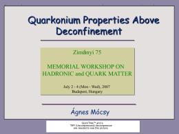 PowerPoint Presentation - Quarkonium
